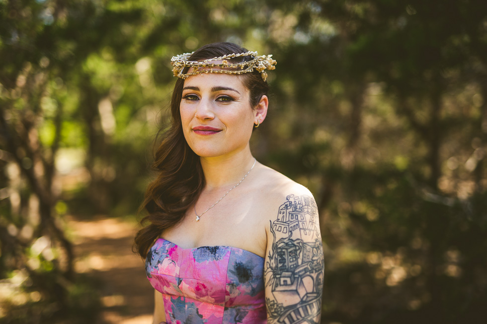 12-bride-tattoos-purple-wedding-dress