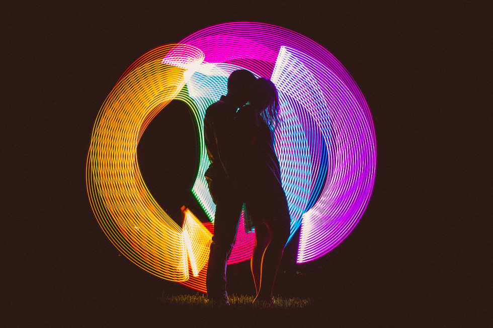 16-downtown-austin-engagement-photography-night-session-light-writing-colorful
