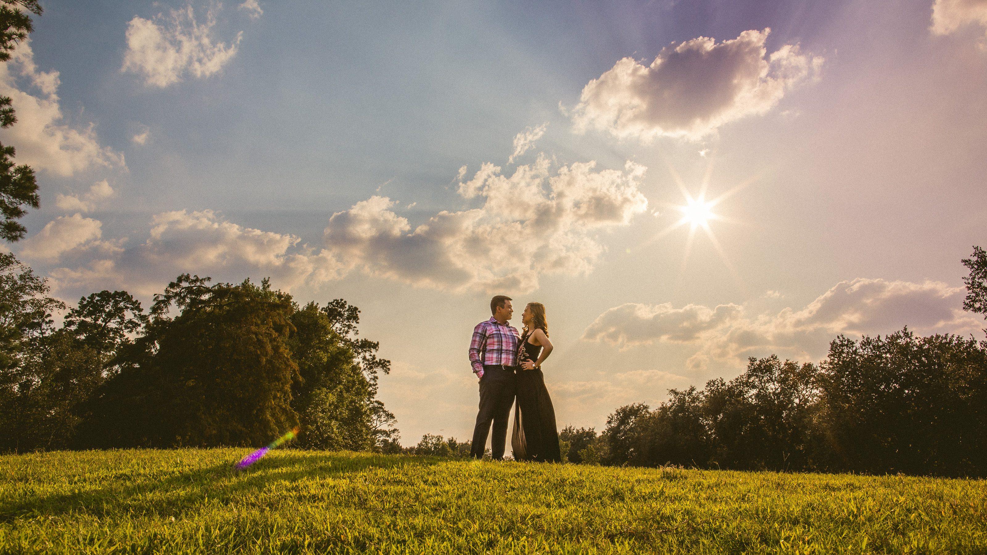 Hermann Park Engagement // Audrey & Arman