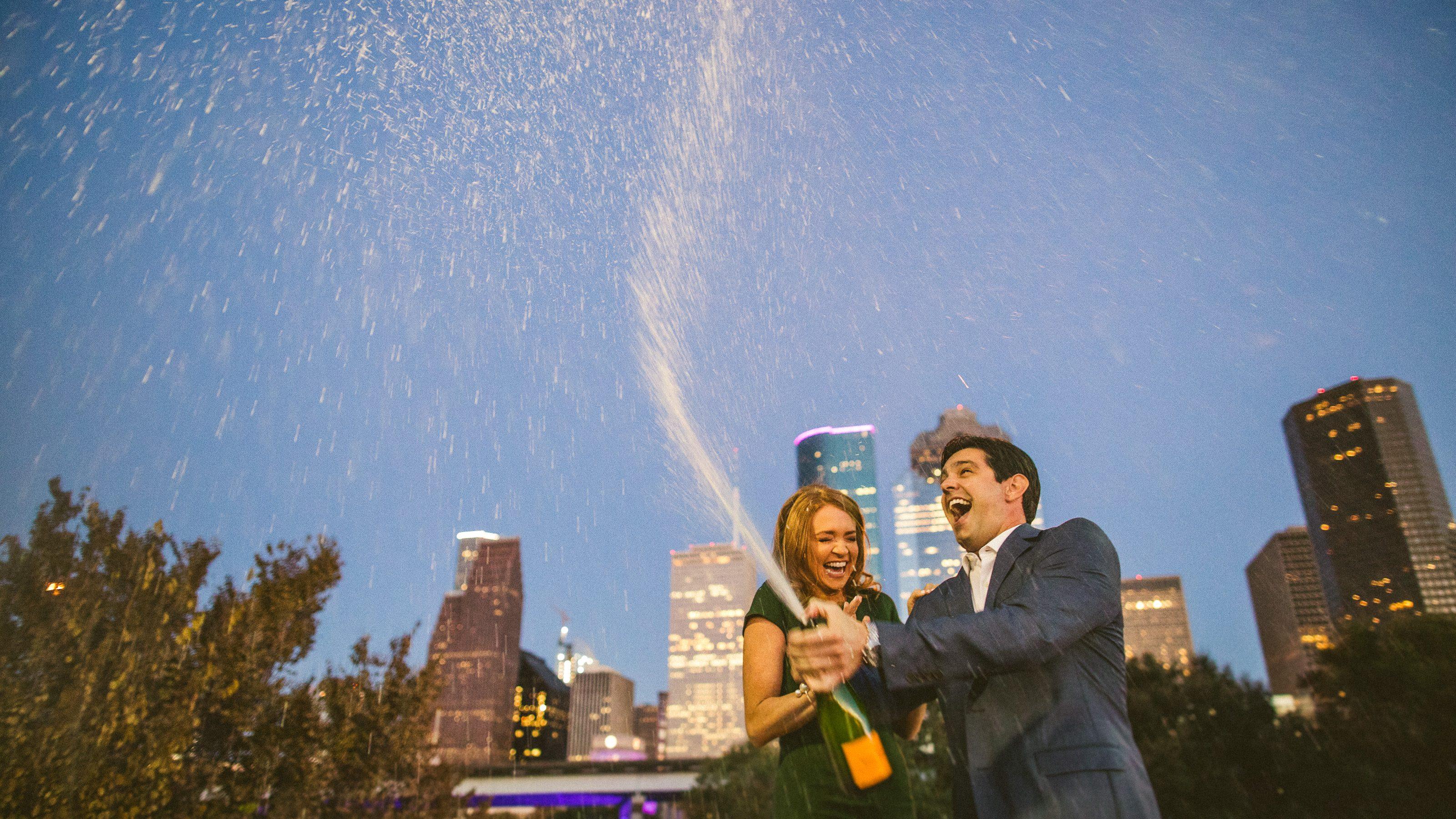 Houston Skyline Engagement Photos // Taylor & Adam