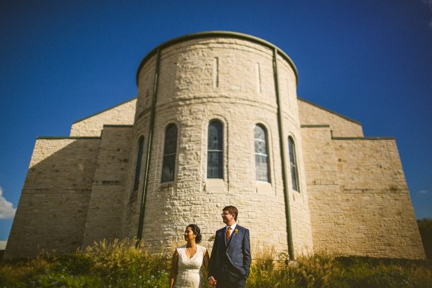 St. Louis Catholic Church and Brodie Homestead Wedding // Kat & Matt
