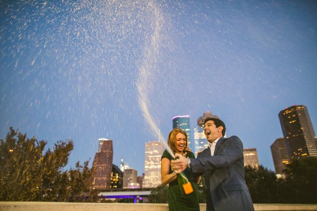 Houston Skyline Engagement Photos // Taylor & Adam